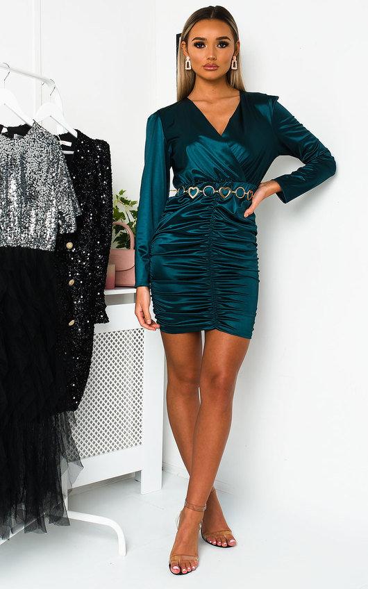 Deirdre Satin Mini Dress