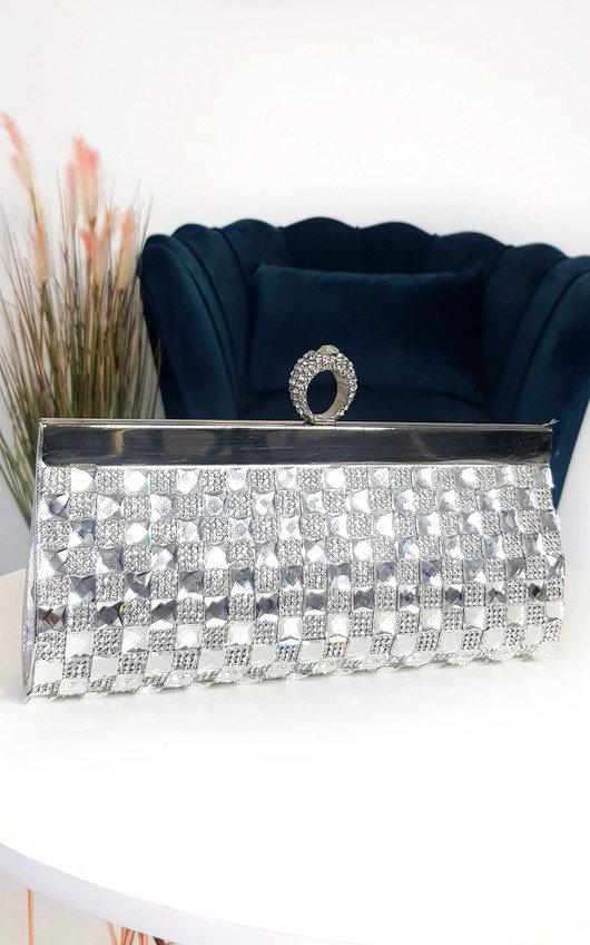 Delia Diamante Clutch Bag