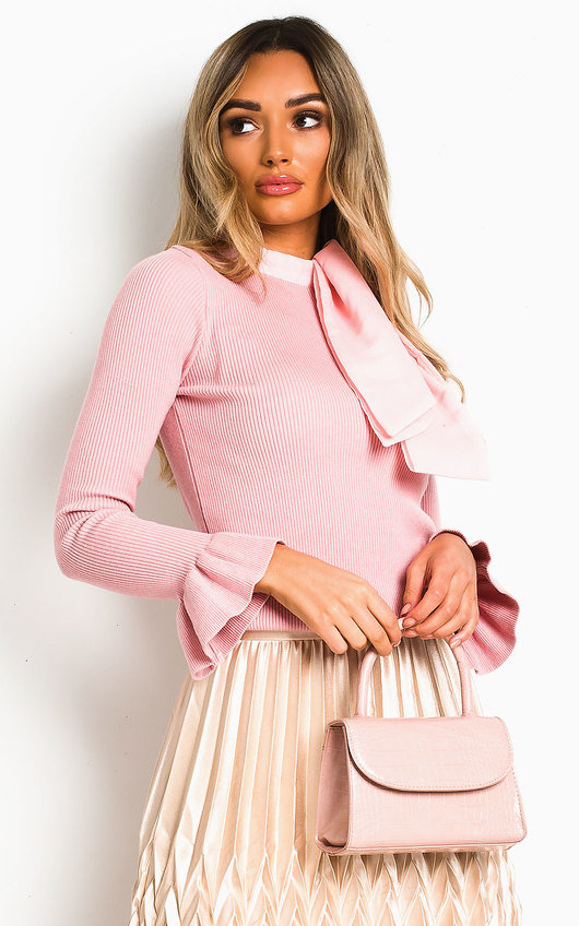Delilah Ribbed High Neck Jumper