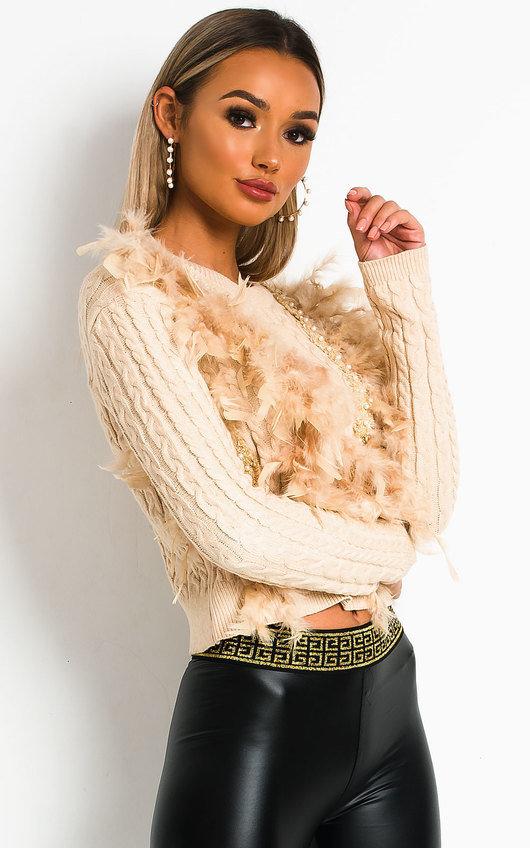 Della Feathered knit Jumper