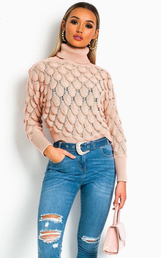 Denisa Crochet Style Knitted Jumper