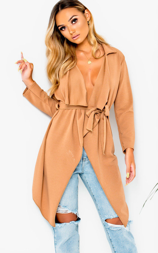 Diana Long-Sleeved Waterfall Coat