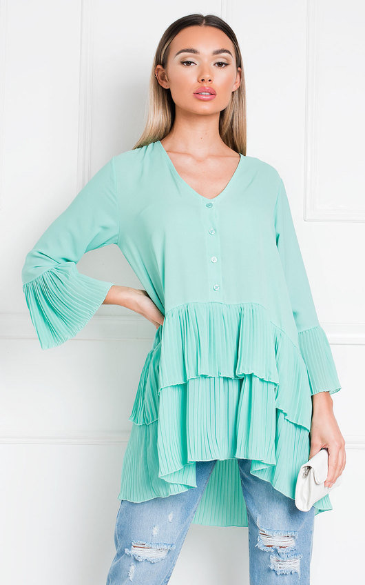 Diana Pleated Shirt Dress