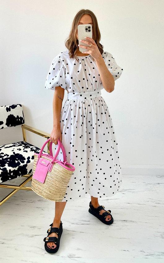 Didi Dotted Midi Dress