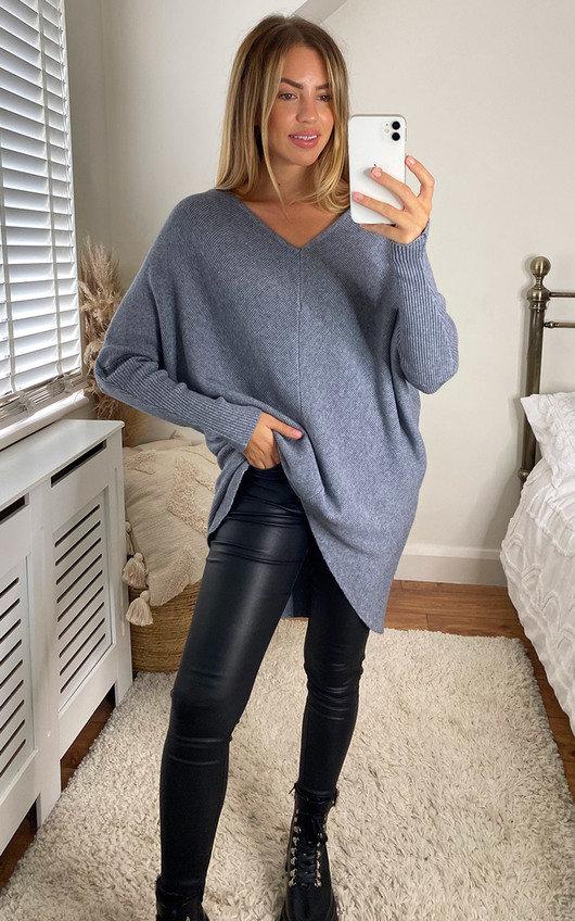 Didi Open Back Knitted Longline Jumper