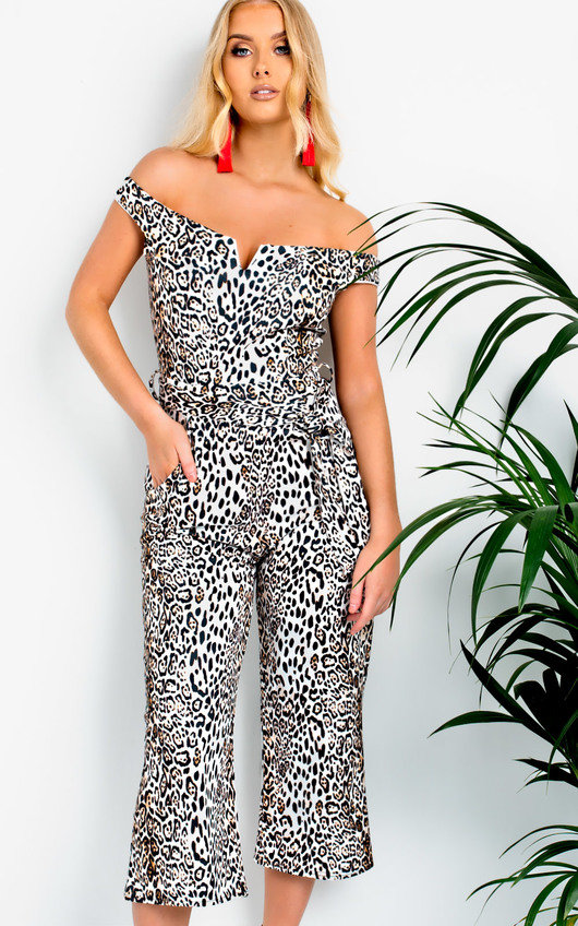 Dills Bardot Cropped Jumpsuit