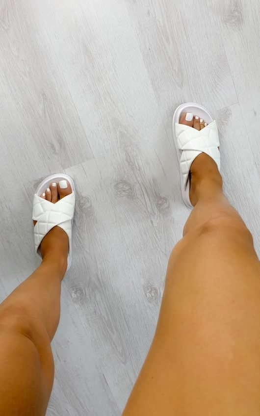 Dills Quilted Crossover Sandals