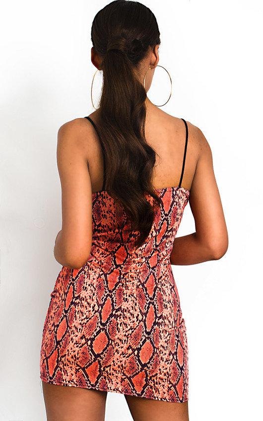 Dina Snake Print Mini Dress