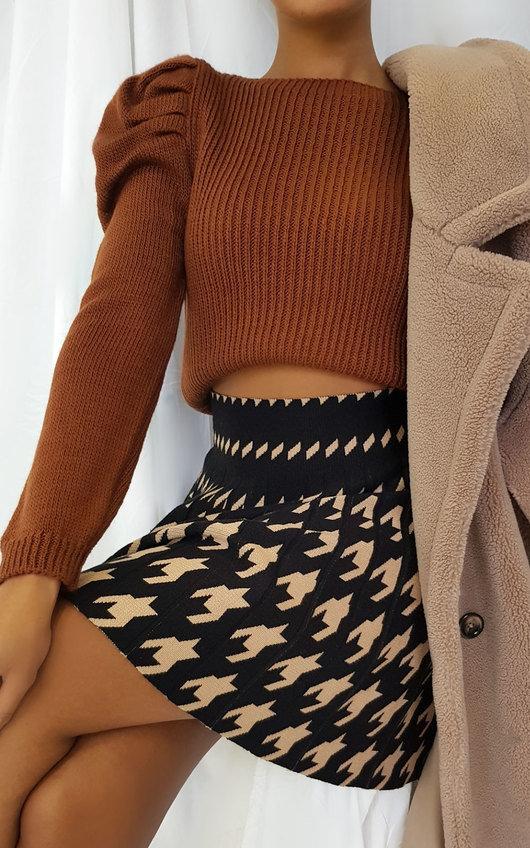 Dionne Two Tone Pleated Mini Skirt