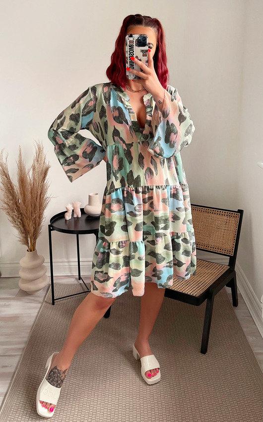 Divina Tiered Midi Dress
