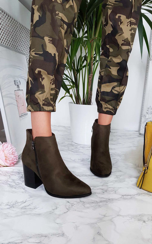 Dolly Faux Suede Pointed Boots
