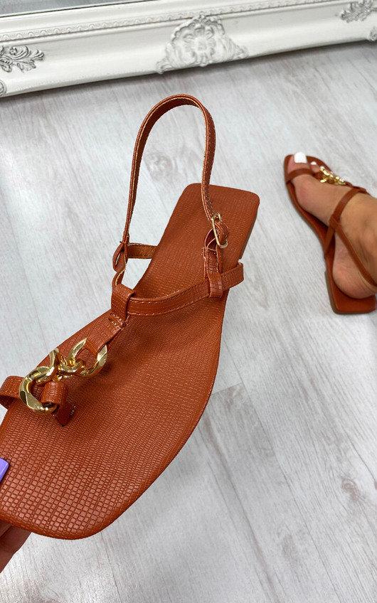 Dora Chain Detail Sandals