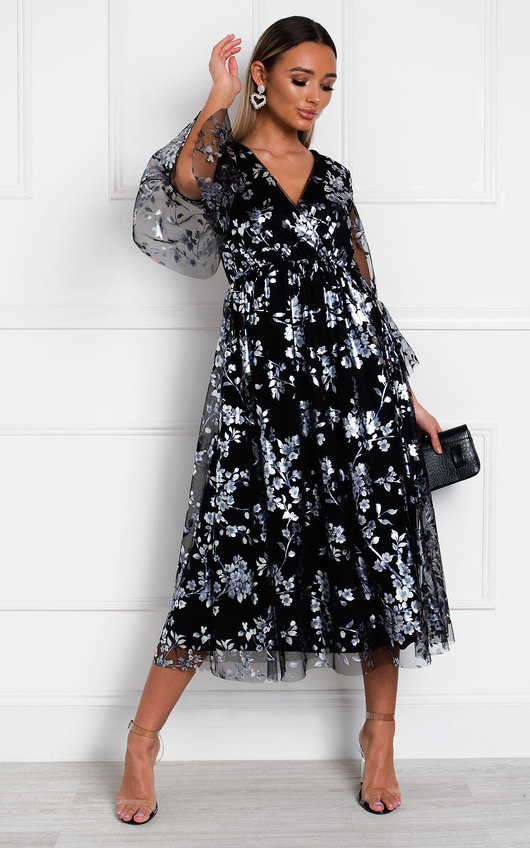Eden Floral Tulle Maxi Dress
