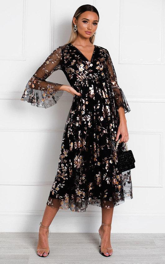 Eden Floral Tulle Maxi Dress