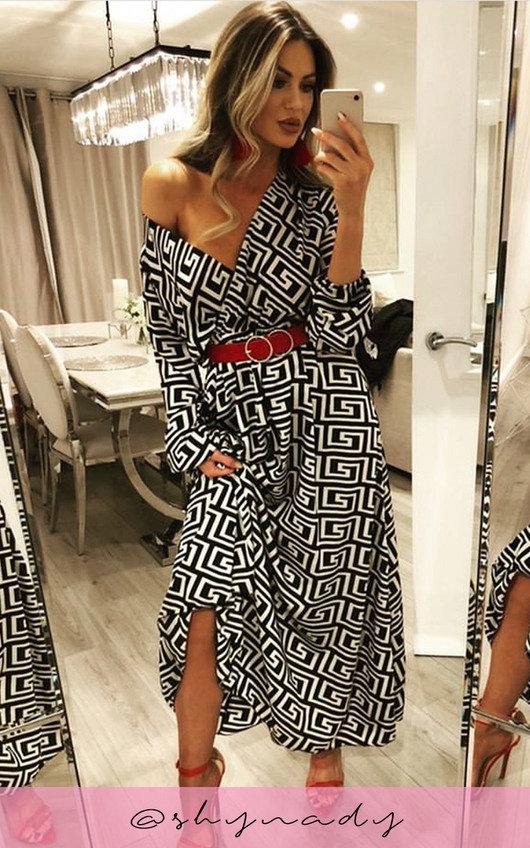 Effie Printed Maxi Shirt Dress