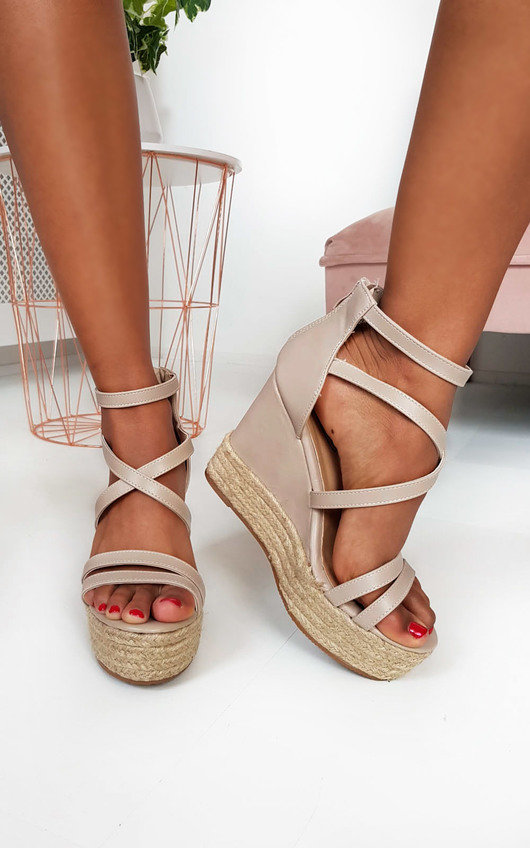 Effie Strappy Faux Leather Wedges