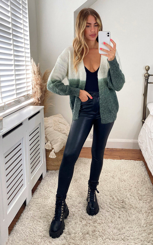 Eilidh Two Tone Knitted Cardigan