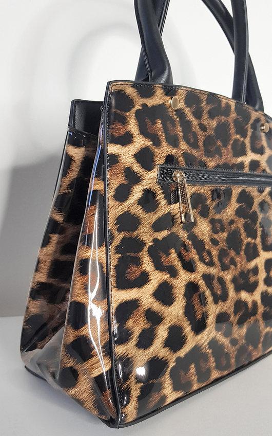 Ela Leopard Print Handbag