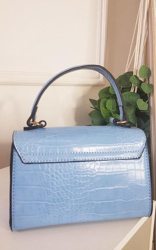 Elara Croc Print Handbag