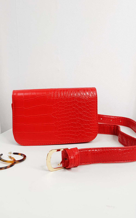 Ella Faux Leather Belt Bag