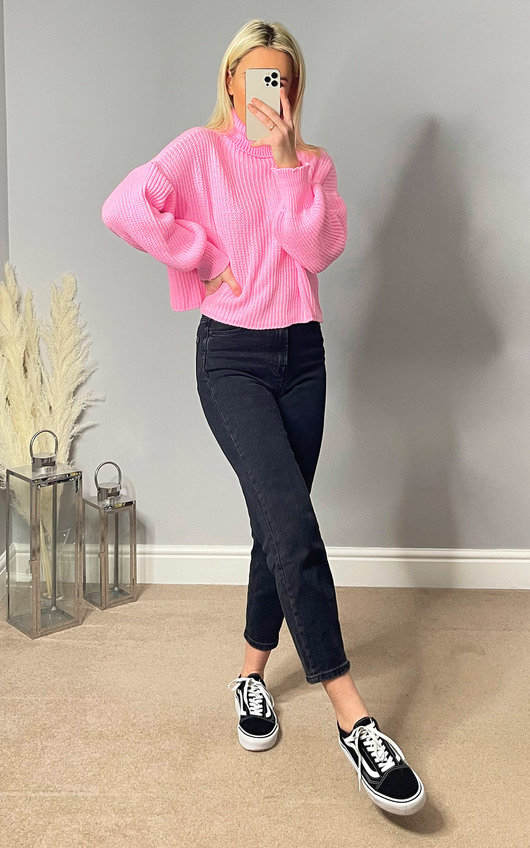 Ellen High Neck Chunky Knitted Jumper