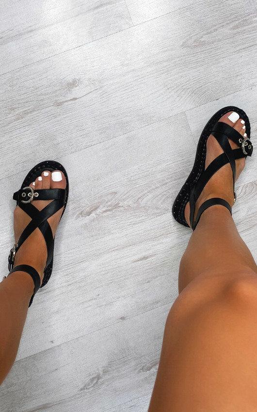 Ellena Cross Over Buckle Sandals
