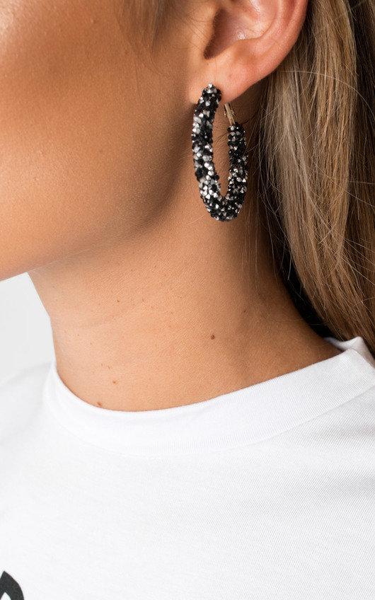 Ellie Crystal Hoop Earrings