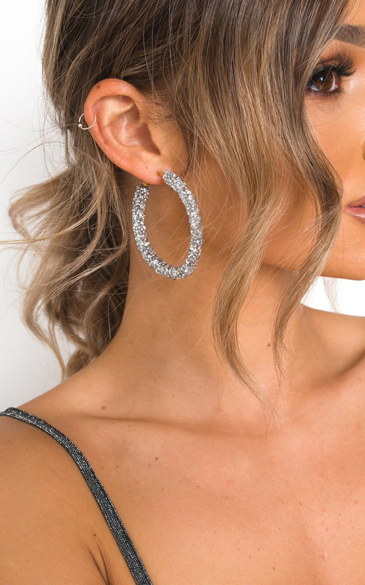 Ellie Crystal Hoop Earrings