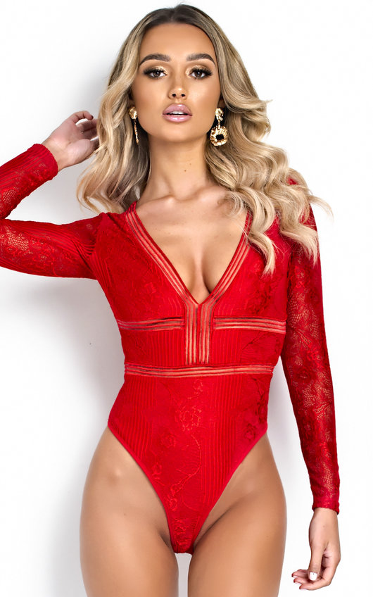Ellie V Neck Mesh Backless Bodysuit