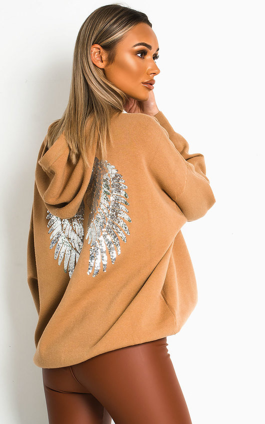 Elly Oversized Wing Embellished Jumper