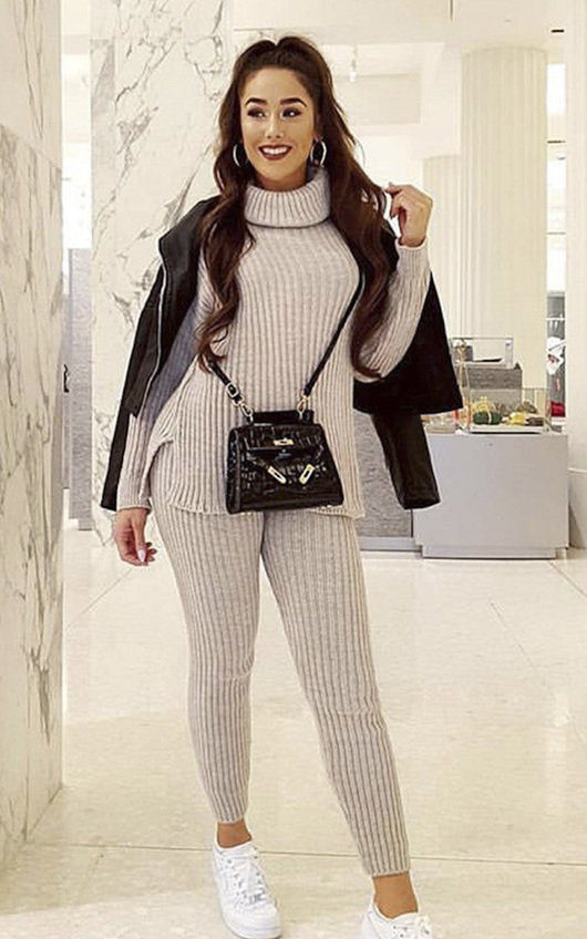 Elma Knitted Poloneck Lounge Co-ord