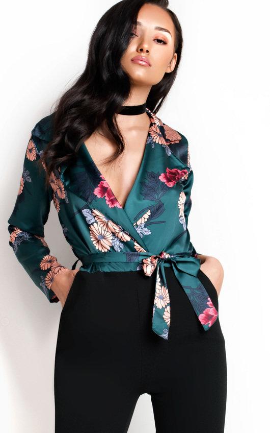 Elsie Floral Blouse Jumpsuit