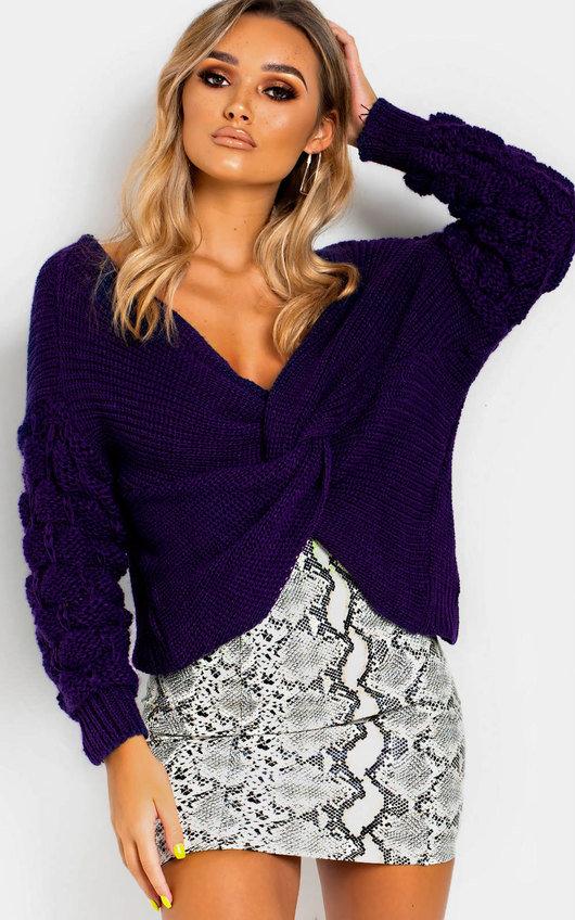 Elsie Knitted Crossover Jumper