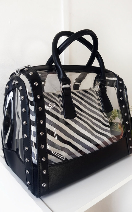 Emilee Transparent Two in One Tote Handbag