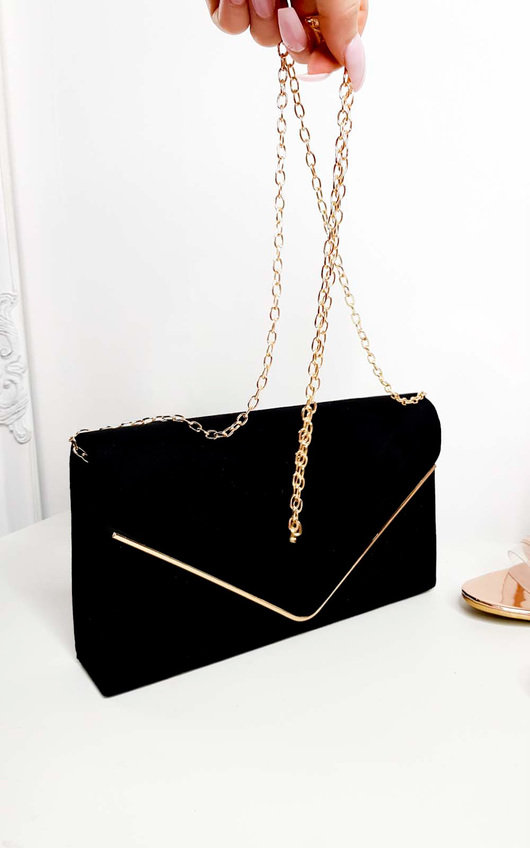 Emily Faux Suede Envelope Clutch Bag