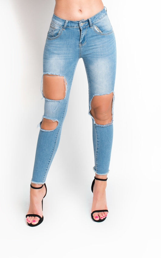 Emily Ripped Skinny Jeans