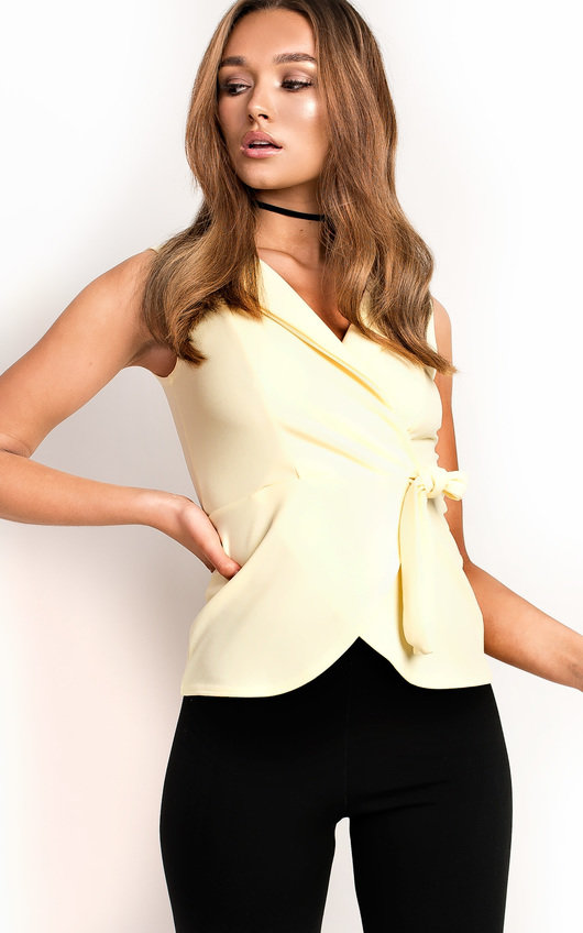 Emily Wrap Collared Top