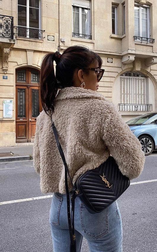 Emma Furry Cropped Jacket