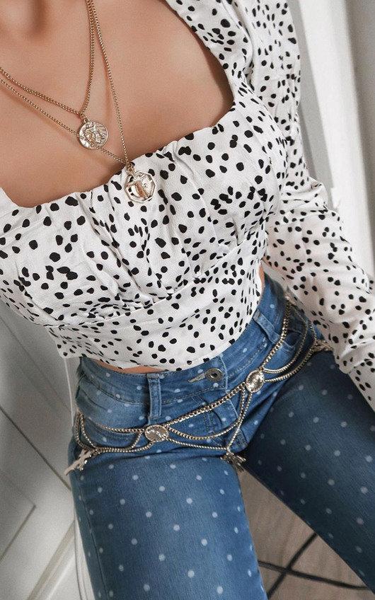 Emma Skinny Polka Dot Jeans