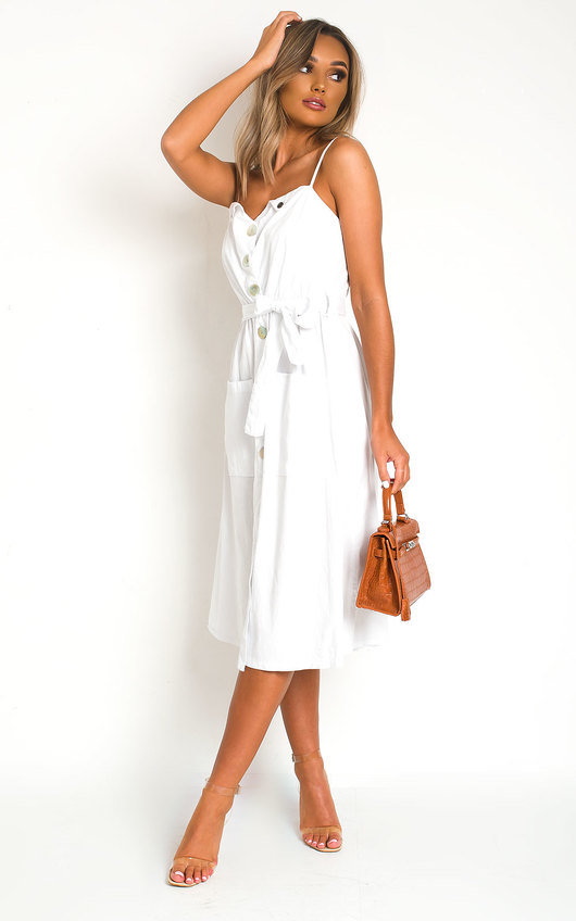 Erin Button Up Tie Dress