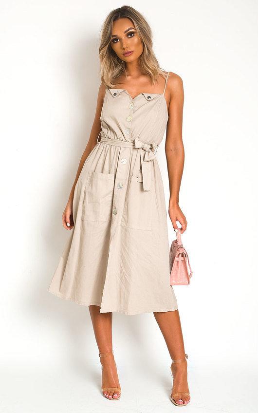 Erin Button Up Tie Dress