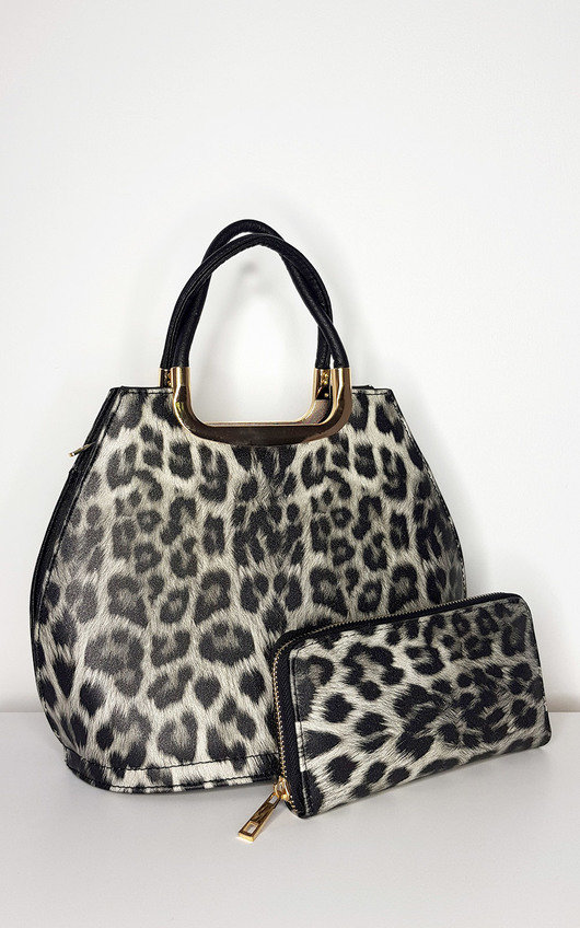 Erin Leopard Print Handbag