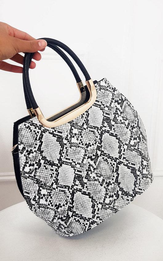 Erin Snake Print Handbag