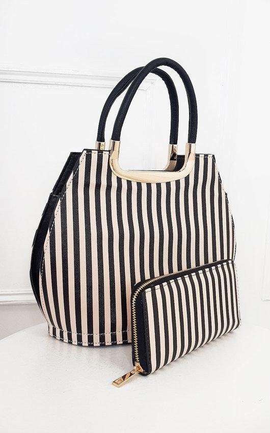 Erin Striped Print Handbag