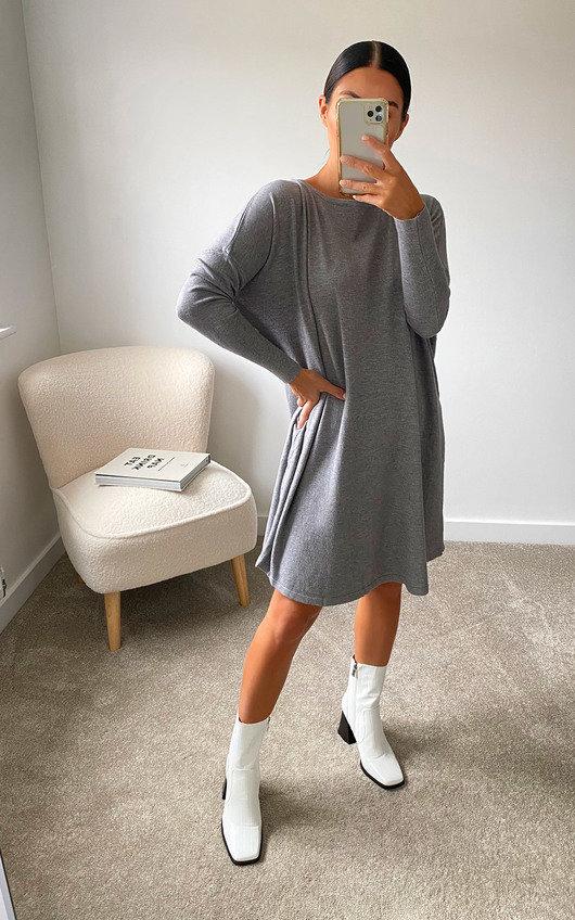Erinna Oversized Knitted Jumper Dress