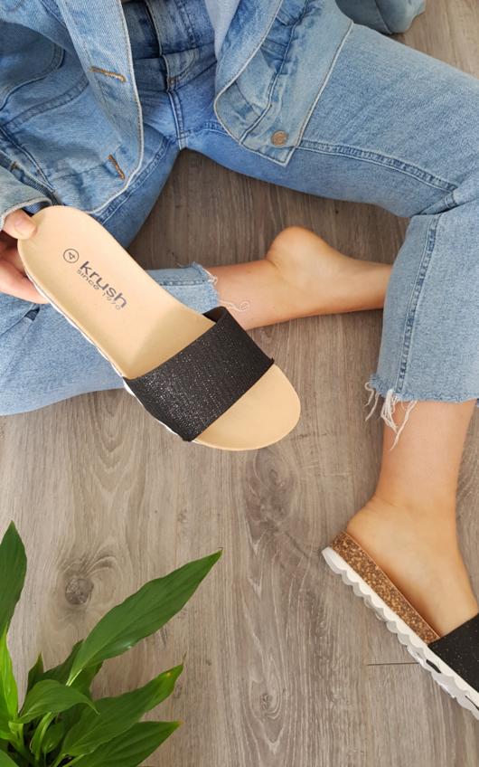 Erma Embellished Slip On Sandals