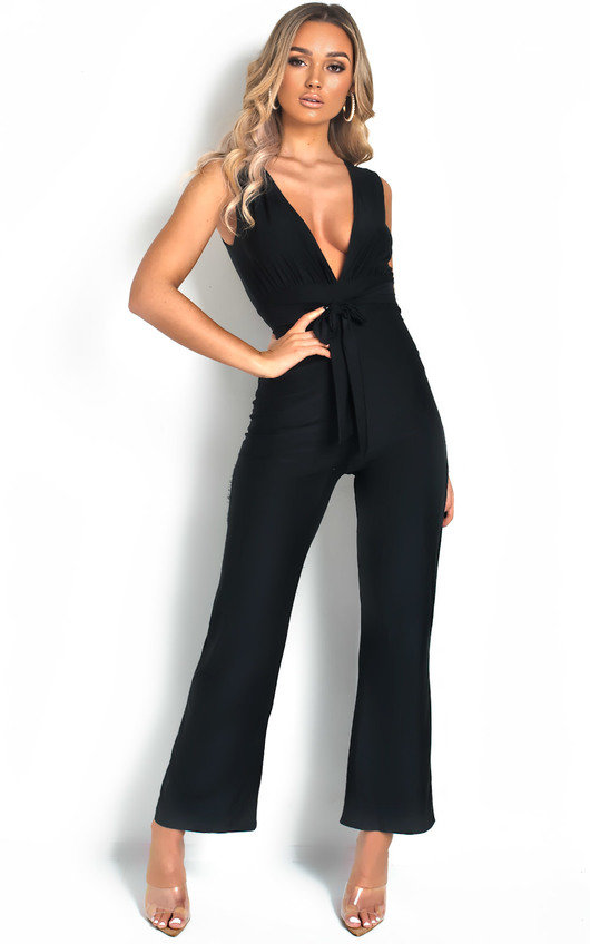 Errin V Neck Wide Leg Jumpsuit