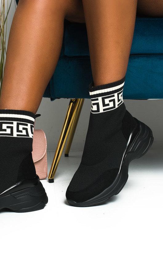 Erynn Printed Chunky Sock Trainers