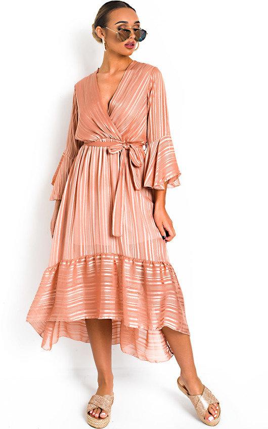 Etta Shimmer Frill Maxi Dress