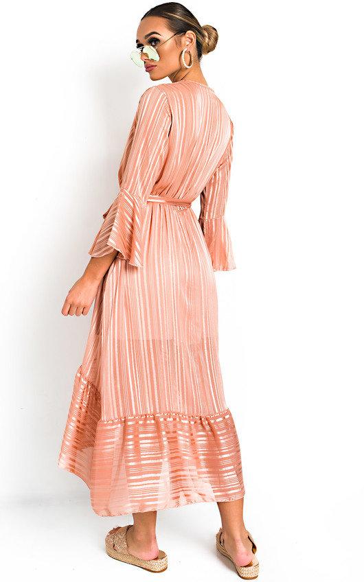 53a1f0007ef Etta Shimmer Frill Maxi Dress Thumbnail